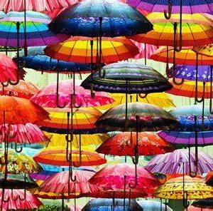 Puzzle 1000 Pièces – Parapluies multicolores