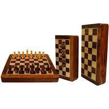 Jeu d'échecs pliant – Taille 18 cm